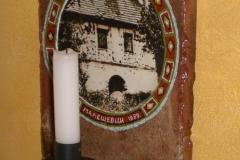 KERZENSTÄNDER (alter Dachziegel ) / ZIDNI SVIJECNJAK ( biber crijep )